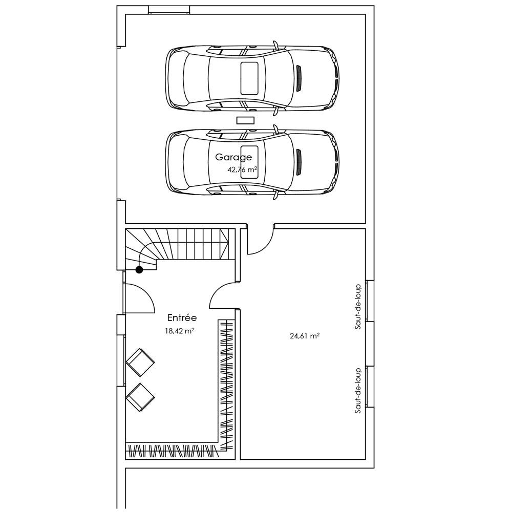 Plan étage villa Morganite